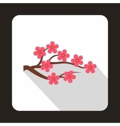 Sakura icon in flat style vector image