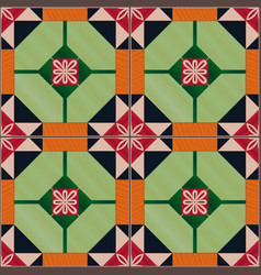Seamless pattern with portuguese tiles azulejo vector