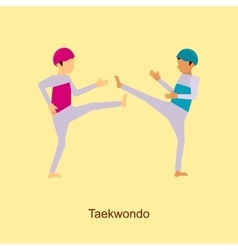 Sport people activities icon taekwondo vector