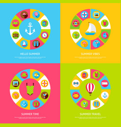 Summer time concepts vector
