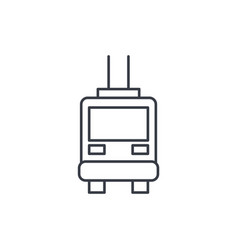 trolleybus passenger transport thin line icon vector image vector image