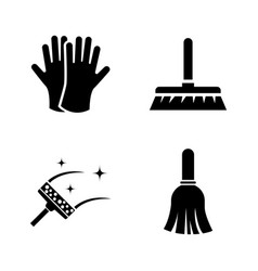 washing tidying simple related icons vector image