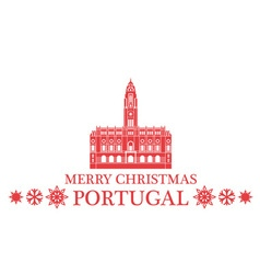 Merry christmas portugal vector