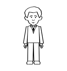 Formal dress man icon image vector