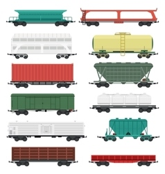 Train carriages set vector
