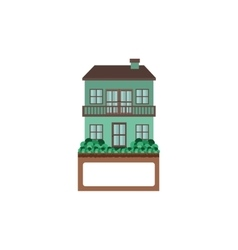 House with two floors and balcony vector