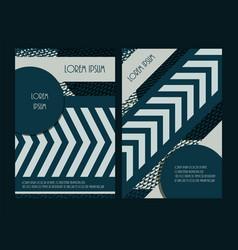 Creative brochure design vertical vector