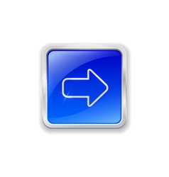 Arrow icon on blue button vector
