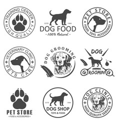 Set of dog logo and icons for dog club or vector
