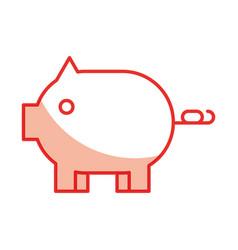 Piggy savings isolated icon vector
