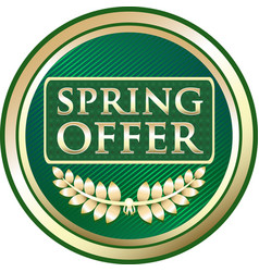Spring offer icon vector