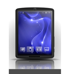 Digital tablet pc with blue screen vector