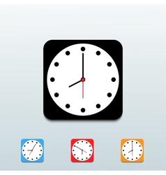 clock icon set on blue background Eps10 vector image