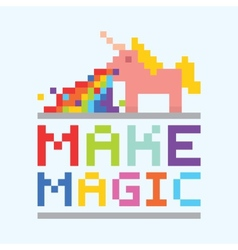 Make magic unicorn vector image