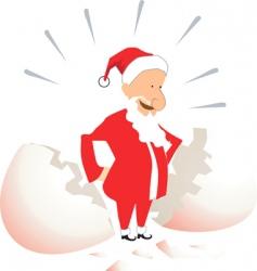 Santa eggs vector