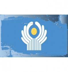 Cis national flag vector
