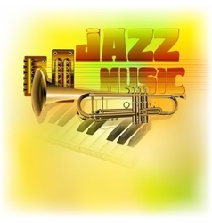 Jazz background music vector