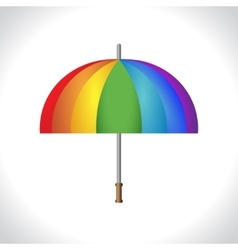Umbrella icon protection from rain colorful vector