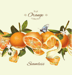 orange seamless banner vector image