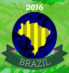 Abstract brazil 2016 design with map of the countr vector