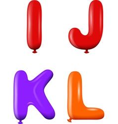 Alphabet letters ijkl colors vector