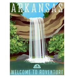 arkansas travel poster or sticker vector image vector image