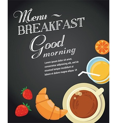 VectorStock  Breakfast Menu Template