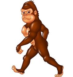 Cartoon funny sasquatch walking vector