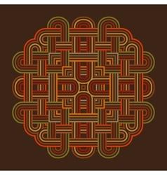 celtic knot pattern card mandala amulet vector image vector image