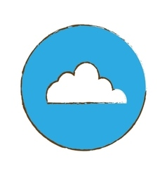 Cloud storage button thumbnail icon image vector