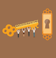Consistency is the key concept of team work on vector