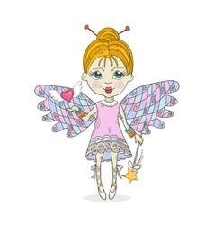 Cute cartoon Fairy vector image