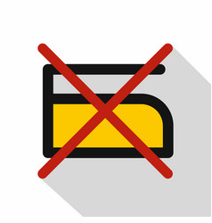 do not iron icon flat style vector image