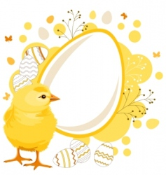 easter greeting card with eggs vector image vector image