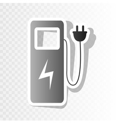 Electric car charging station sign new vector