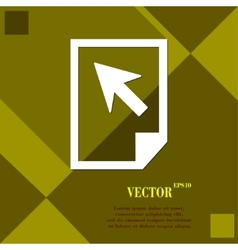 File document icon symbol Flat modern web design vector image