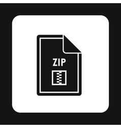 File zip icon simple style vector