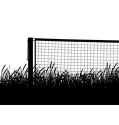 Grasscourt tennis season vector