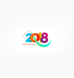 happy new 2018 year template vector image