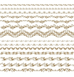 horizontal elements decoration vector image vector image