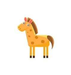 Horse Simplified Cute vector image vector image
