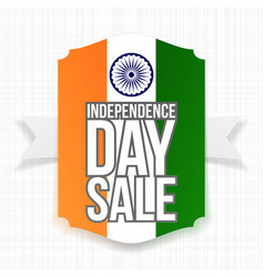 India independence day sale label vector