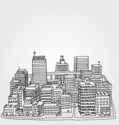 Just a sketch of a big city vector