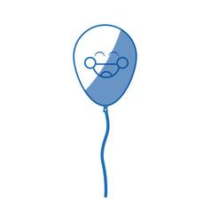 Kawaii funny balloon birthday celebration vector