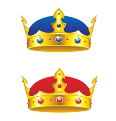 King crown with gems and embellishments vector