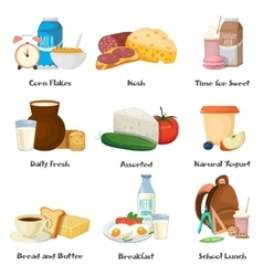 Milk Food Decorative Icons Set vector image vector image