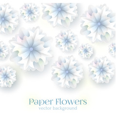 paper flower background vector image