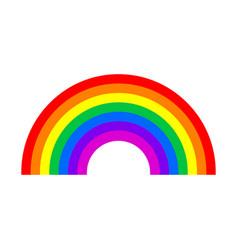 rainbow symbol isolated on white background vector image vector image