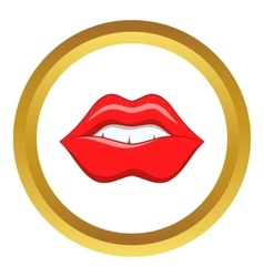 Red lips icon vector image