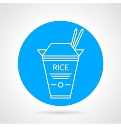 Rice box round icon vector image vector image